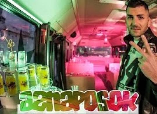 Masnaposok klipforgatas a partybuszon